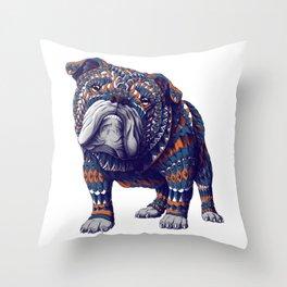 English Bulldog (Color Version) Throw Pillow