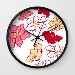 Poinsettia - 4 colors Wall Clock