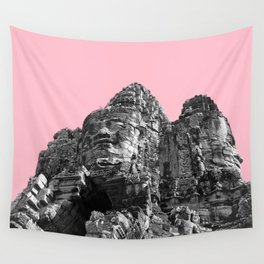 Part of Angkor Wat with pink Wall Tapestry