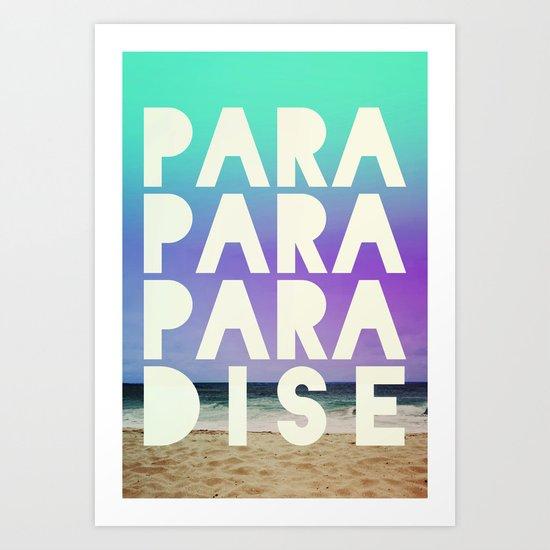 PARADISE (AQUA) Art Print