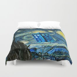 Flying Tardis doctor who starry night iPhone 4 4s 5 5c 6, pillow case, mugs and tshirt Duvet Cover