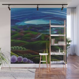 The Primeval Forest landscape painting by Gerardo Dottori Wall Mural
