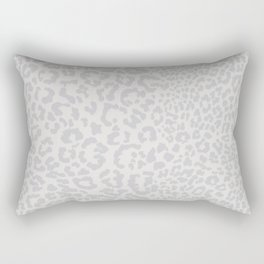 Snow Leopard Print Rectangular Pillow