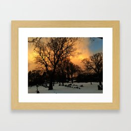 Tangerine Graveyard Framed Art Print