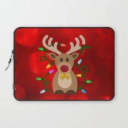 Christmas Reindeer in Lights Laptop Sleeve