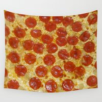 pizza Wall Tapestries featuring Pizza by Katieb1013