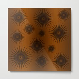 Caramel & Chocolate Star Bursts Metal Print