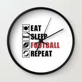 American Football Repeat Team Game USA Gift Idea Wall Clock