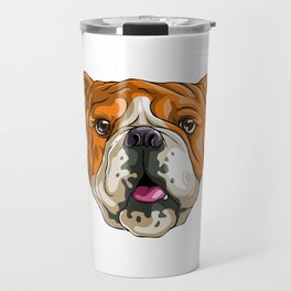 Bulldog Funny Pet Puppy Dog Lover Travel Mug
