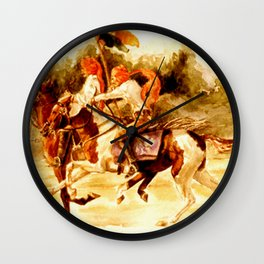 Horses and People No.1 Wall Clock