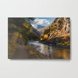A View Along Colorado's Gunnison River Metal Print