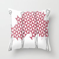 bones Throw Pillows featuring bones by Dal Sohal