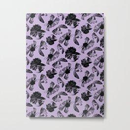 Beta Fish Lavender Metal Print