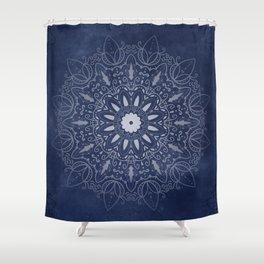 Indigo Mystique Mandala Shower Curtain