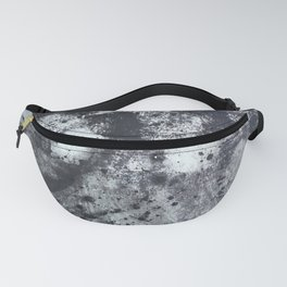 Abstract Splatter Black and Grey Painting Fanny Pack