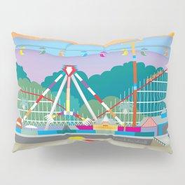 Santa Cruz, California - Skyline Illustration by Loose Petals Pillow Sham