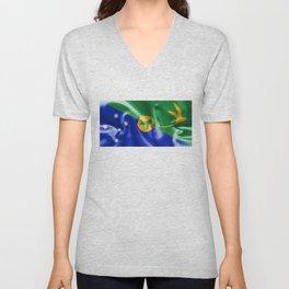 Christmas Island Flag Unisex V-Neck