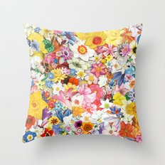 Flowers.2 Throw Pillow