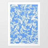 cherry blossom Art Prints featuring Cherry Blossom by Elena O'Neill