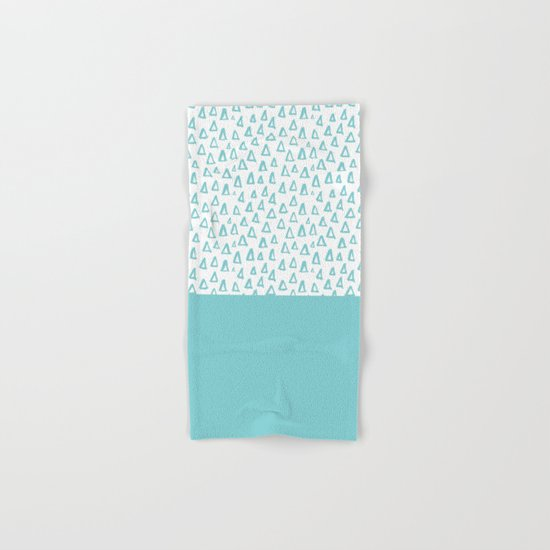 Triangles Mint Hand & Bath Towel
