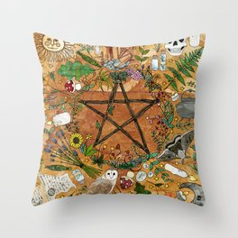 Witch tools Throw Pillow