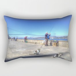 Fishermen And Cats Istanbul Rectangular Pillow