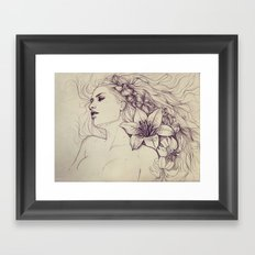 Lion's mane Framed Art Print