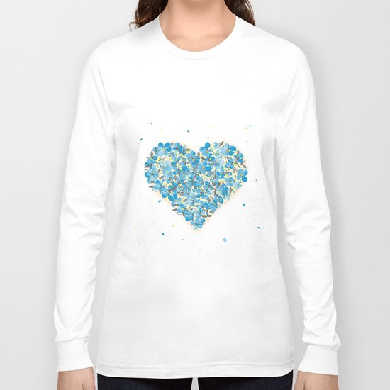 forget-me-nots heart Long Sleeve T-shirt