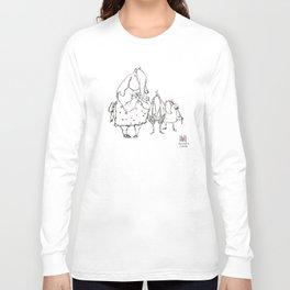 Anxious Elephants Long Sleeve T-shirt