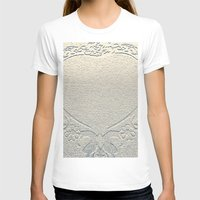 antique T-shirts featuring Antique Heart by Rose Etiennette