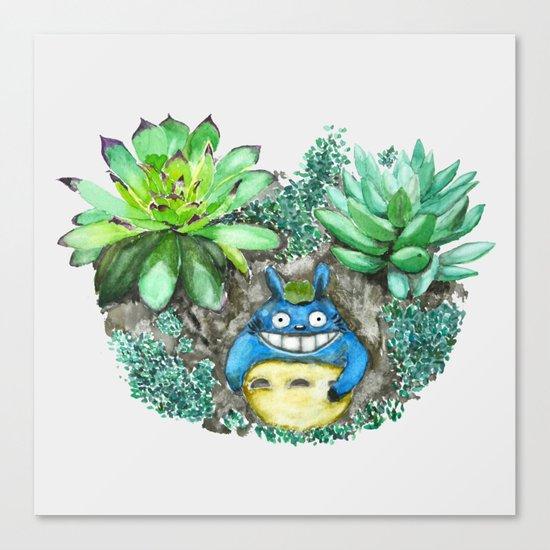 succulent plant set Canvas Print