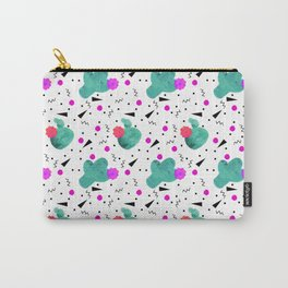 Hello Cactus White Background Carry-All Pouch