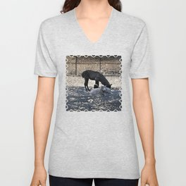 The Story of the Goat, the Llama, and the Sheep Unisex V-Neck