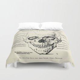 Vintage Anatomy Skull  Duvet Cover