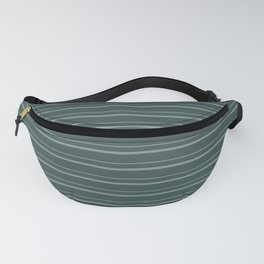 Scarborough Green PPG1145-5 Horizontal Stripes Pattern 3 on Night Watch PPG1145-7 Fanny Pack