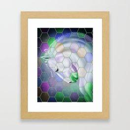 Rainbow Lusitano Mosaic Tiled Art Framed Art Print