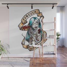 Forever 29 Zombie Girl Wall Mural