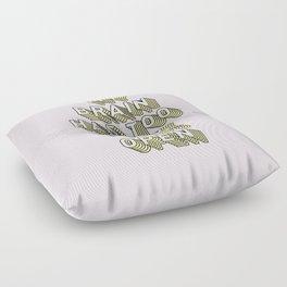 My Brain Has Too Many Tabs Open - Typography Design Floor Pillow
