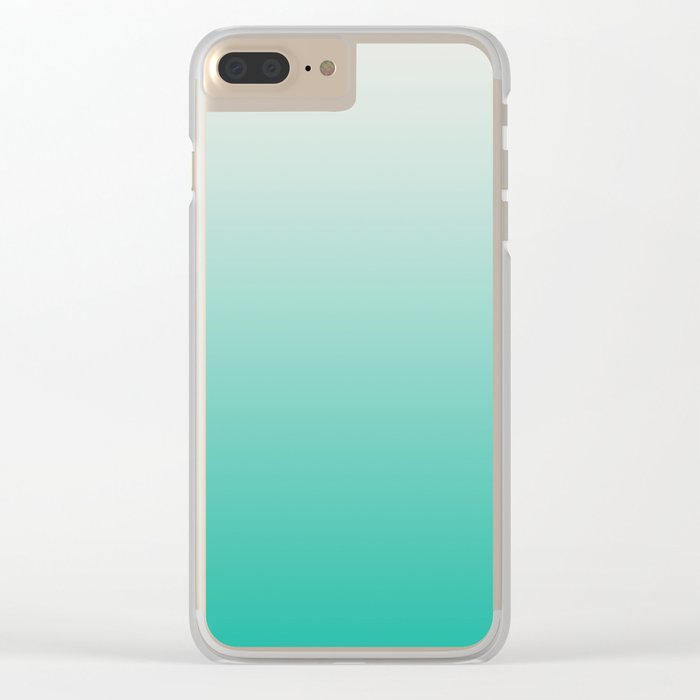 Mint Ombre Clear iPhone Case