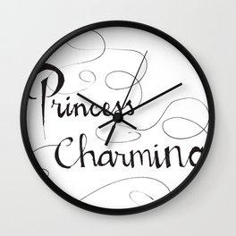 Princess Charming Wall Clock
