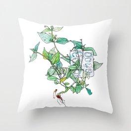 Plantae Alley 3 Throw Pillow