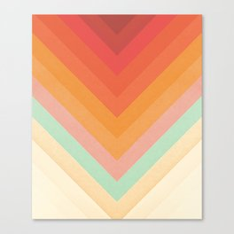 Rainbow Chevrons Canvas Print