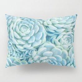 Blue succulents II Pillow Sham