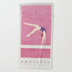 SUMMER GAMES / artistic gymnastics Beach Towel