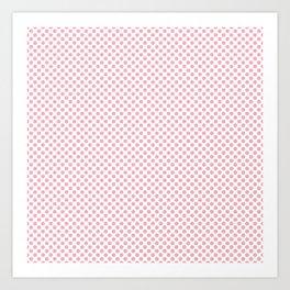 Candy Pink Polka Dots Art Print