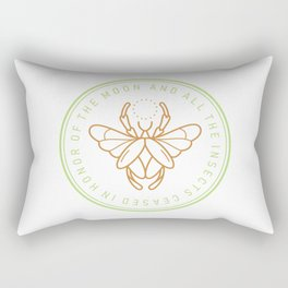 And all the insects ceased in honor of the moon Rectangular Pillow