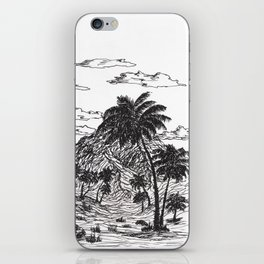Palm forest in desert iPhone Skin