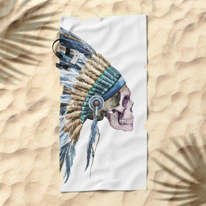 Skull 04 Beach Towel