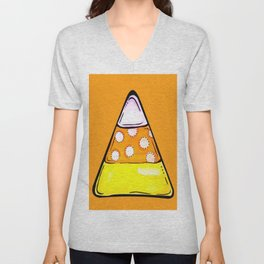 Candy Corn - Orange Unisex V-Neck
