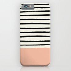 Peach x Stripes Slim Case iPhone 6s